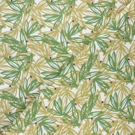 Cretonne cotton fabric - moss green Nabali x 10cm