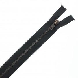 Fermeture Eclair® recyclée séparable laiton - noir