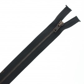 Recycled divisible brass Eclair® zipper - black