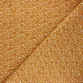 Tissu coton cretonne Jikeo - ocre x 10cm