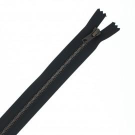 Fermeture Eclair® recyclée non-séparable laiton - noir