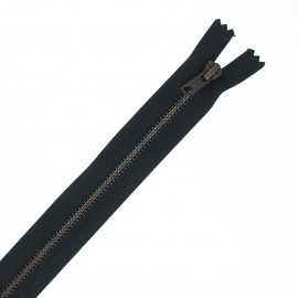Recycled non-divisible brass Eclair® zipper - black