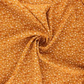 Tissu viscose Jikeo - ocre x 10cm