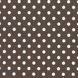 Tissu Dumb Dot Brown x 10cm