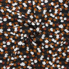 Cretonne cotton fabric - coal Kisnek x 10cm