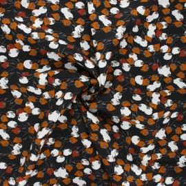 Tissu coton cretonne Kisnek - charbon x 10cm