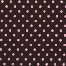 Tissu Dumb Dot Cocoa x 10cm