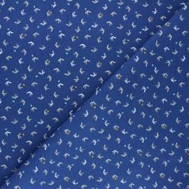 Cotton canvas fabric - navy blue Tista x 10cm