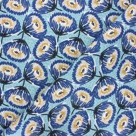 Tissu toile de coton Tesaya - céladon x 10cm