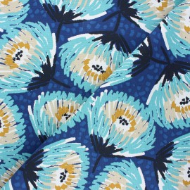 Cotton canvas fabric - navy blue Laetitia x 10cm