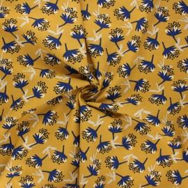 Tissu viscose Omby - jaune moutarde x 10cm