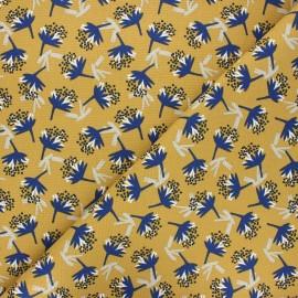 Tissu toile de coton Omby - jaune moutarde x 10cm