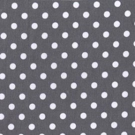 Tissu Dumb Dot Charcoal x 10cm