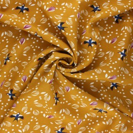 Tissu viscose Jolhiro - ocre x 10cm