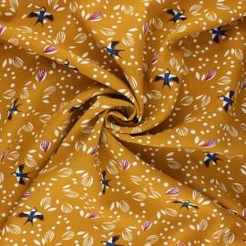 Viscose fabric - ochre Johiro x 10cm