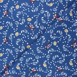 Cretonne cotton fabric - navy blue Jolhiro x 10cm