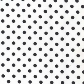 Tissu Dumb Dot Ebony x 10cm