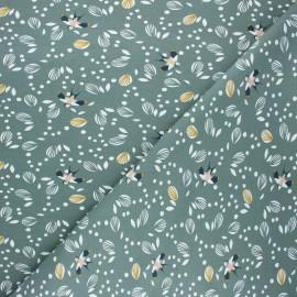 Tissu jersey Jolhiro - eucalyptus x 10cm