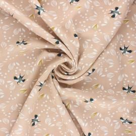 Tissu viscose Jolhiro - blush x 10cm