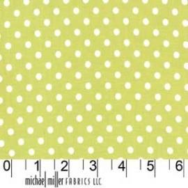 Tissu Dumb Dot Limeade x 10cm