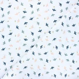 Cretonne cotton fabric - blush Mesao x 10cm