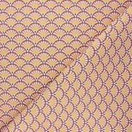 Tissu toile de coton Athy - marsala x 10cm