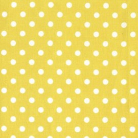 Tissu Dumb Dot Citron x 10cm