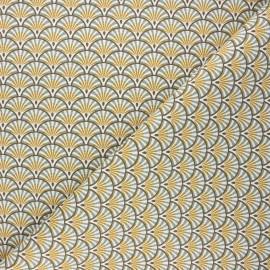 Tissu toile de coton Athy - eucalyptus x 10cm