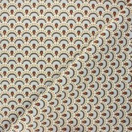 Tissu toile de coton Zadani - kaki x 10cm