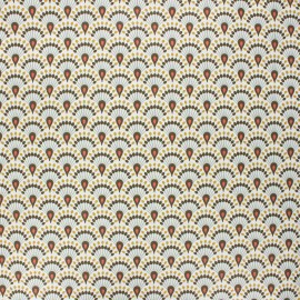 Coated cretonne cotton fabric - khaki Zadani x 10cm