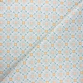 Cretonne cotton fabric - sage green Capucine x 10cm