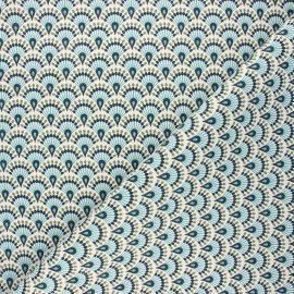 Cotton canvas fabric - celadon Zadani x 10cm