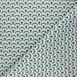 Tissu toile de coton Zadani - céladon x 10cm