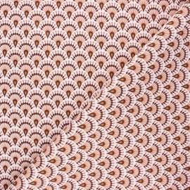 Cotton canvas fabric - marsala Zadani x 10cm