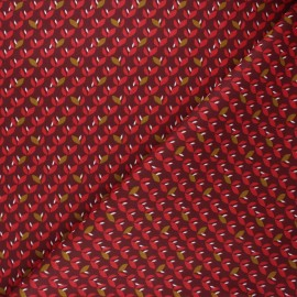 Cretonne cotton fabric - burgundy Jana x 10cm