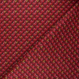 Tissu coton cretonne Jana - bordeaux x 10cm