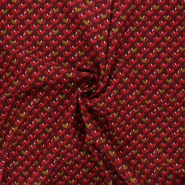 Tissu viscose Jana - bordeaux x 10cm