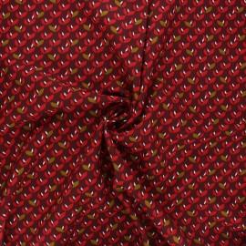 Viscose fabric - burgundy Jana x 10cm