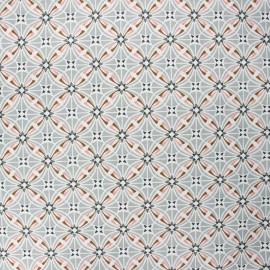 Tissu coton cretonne enduit Capucine - gris x 10cm