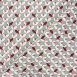 Cretonne cotton fabric - grey green Vaya x 10cm