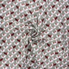 Viscose fabric - grey green Vaya x 10cm