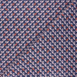 Tissu coton cretonne Jana - bleu marine x 10cm