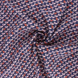 Tissu viscose Jana - bleu marine x 10cm