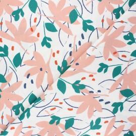 Cretonne cotton fabric - pink Ydori x 10cm