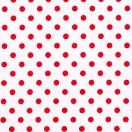 Tissu Dumb Dot Peppermint x 10cm