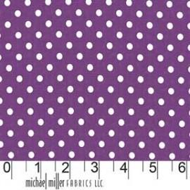 Tissu Dumb Dot Lilac x 10cm