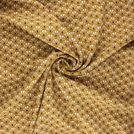 Viscose fabric - ochre Yazo x 10cm