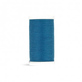 Fil à coudre Laser polyester - bleu canard - 100m