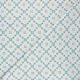 Cretonne cotton fabric - greige Capucine x 10cm