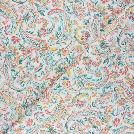 Cretonne cotton fabric - white Keya x 10cm